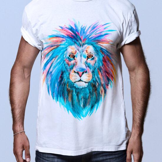 Camiseta Leon Colorido