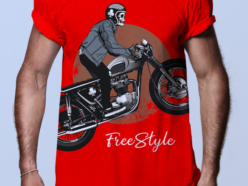 Camiseta hombre motorista