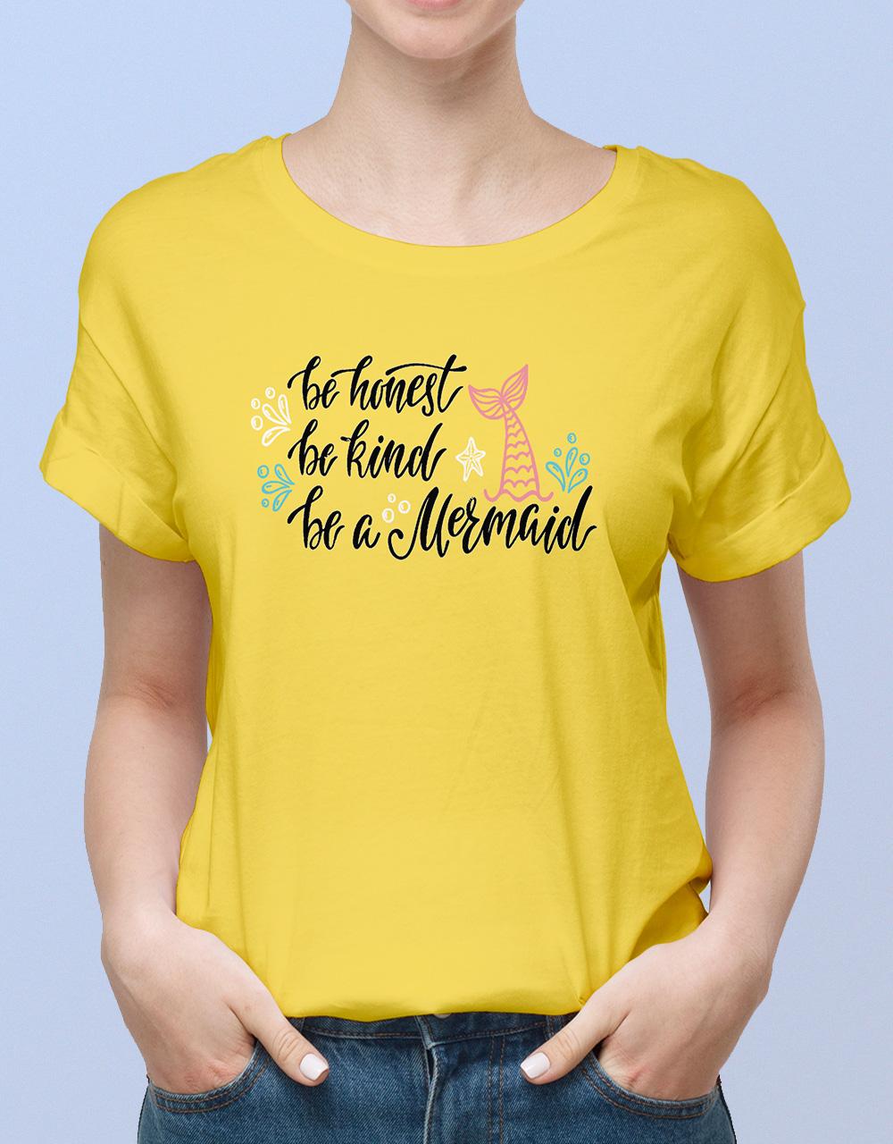 Camiseta mujer amarilla sirena