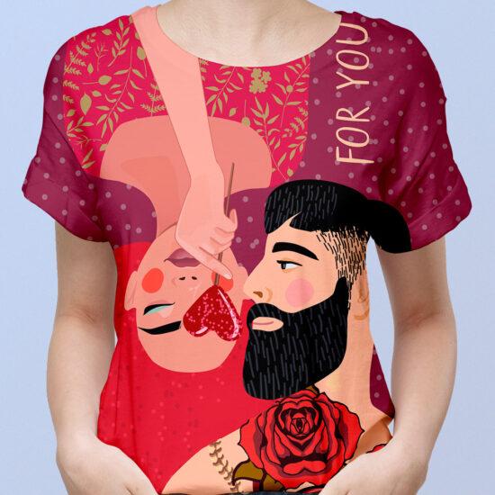 Camiseta mujer enamorados