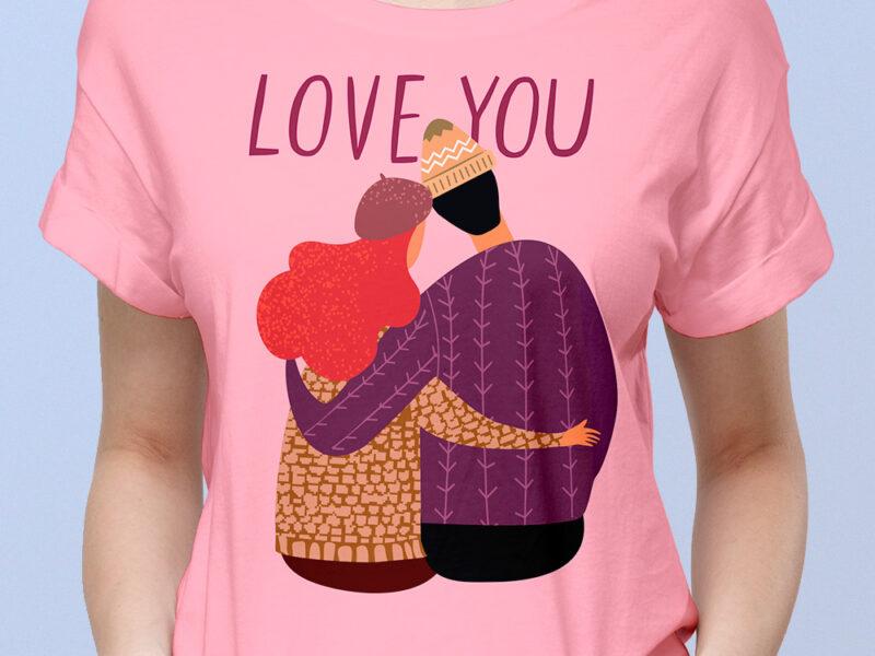 Camiseta mujer pareja enamorados