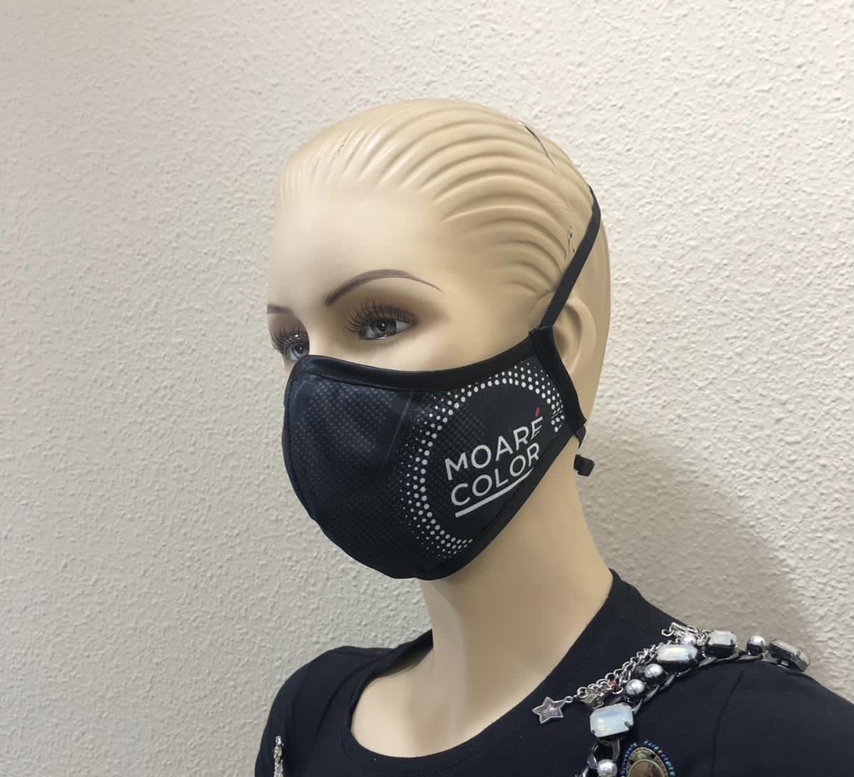 Mascarilla negra logotipo-sublimación-personalizada